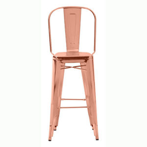 Admirable Rose Gold Tolix High Back Bar Stool Gmtry Best Dining Table And Chair Ideas Images Gmtryco