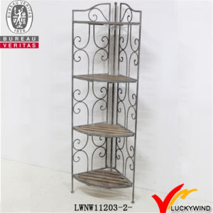 Metal & Wood Foldable Corner Rack pictures & photos