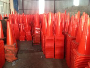 PVC Traffic Equipment Barricade Cone Barrier Orange Reflective Traffic Cone pictures & photos