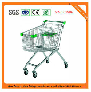 High Quality Supermarket Shop Retail Shopping Trolley Manufacture Metal and Zinc/Galvanized/ Chrome Surface 08014