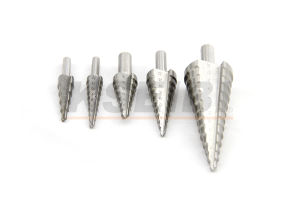 Straight Spiral Flute Hige Speel Steel (HSS) Step Drill Bit pictures & photos
