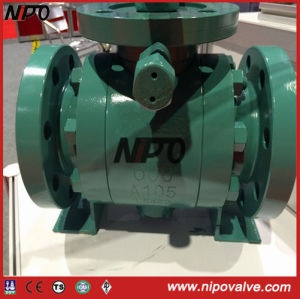 API 6D Carbon Steel Flanged Trunnion Ball Valve pictures & photos