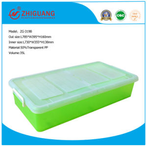 Underbed Storer Plastic Storage Box with Foldable Lids pictures & photos