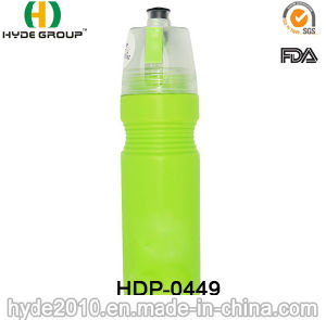 Portable BPA Free PE Plastic Sports Bottle with Spray (HDP-0449) pictures & photos