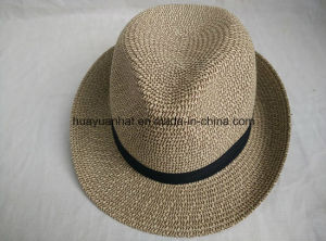 90% Paper 10%Polyester with Mixed Color Leisurely Style Fedora Hats
