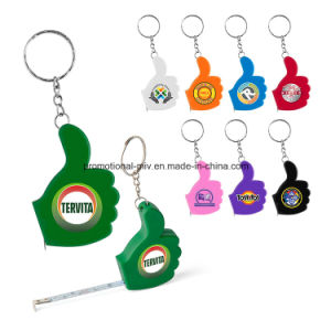 China Colorful Thumb-Shaped Keychain with Ruler Function Promotional Tape  Measures - China Promotional Keyring f3209f891