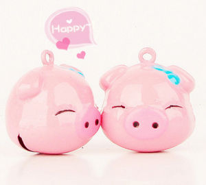 Fashion Cute Small Bell Pink Cartoon Pig Pendant pictures & photos