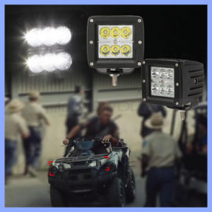 "3"" 18W 6 LEDs 4X4 4WD Offroad Flood Spot Watorproof White LED Work Light (CK-WC0603A) pictures & photos"