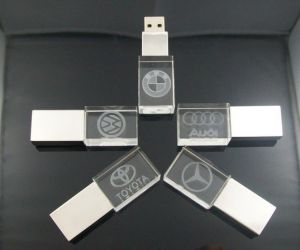Acrylic USB Flash Disk, USB Memory Flash Stick Driver Free Make Logo