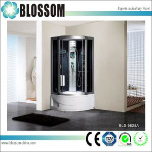 Tempered Glass Steam Massage Shower Room Round Shower Cabin (BLS-9825A) pictures & photos