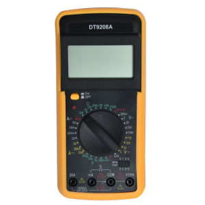 Temperature and Frequency Measurement Digital Multimeter Dt9208A