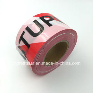 PE Warning Tape Red&White for Safety