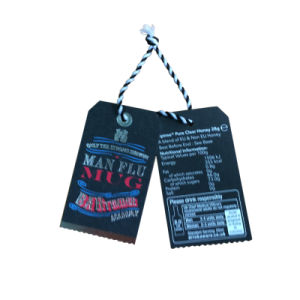High End of Paper Hangtag in Two Side with String