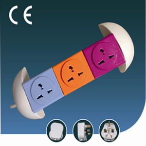 Colorful Overload Protection Verticle Electrical Socket with USB