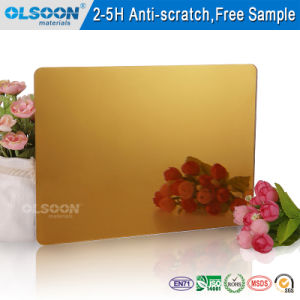 Olsoon Colored Mirrored Plastic Sheet Acrylic Mirror Sheet pictures & photos