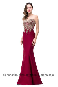 582231d22b5 China Sexy Backless Red Mermaid Lace Evening Gowns Vestido De Festa ...