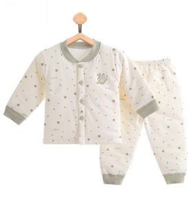 34d0d38d922 100% Cotton Printing Long Sleeve Warm Baby Suit Newborn Infant Baby Clothing