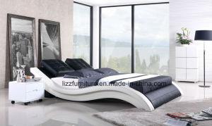 Modular Soft Bedroom Set King Size Italian Leather Bed