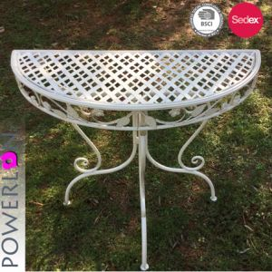 Hot Sale Wrought Iron Half Round Table
