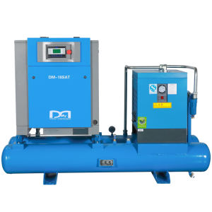 Oil Injected Electric Industrial Rotary Combined Slent Screw Air Compressor