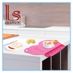 Silicone Anti-hot Pad Kids Baby Dining Table Home Kitchen Placemats Place Mat HS