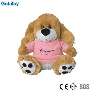 Competitive Price Factory Custom Plush Dog Toy with Cotton Shirt
