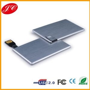 Super Slim Metal Card USB Flash Drive, CE Approved