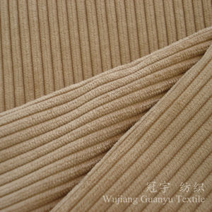 6W Cut Pile Polyester and Nylon Corduroy Fabric for Sofa pictures & photos