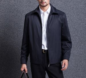 High Quality Cheap Waterproof Mens Suit Jacket with Zipper pictures & photos