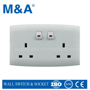 Me Series Double 13A Switched Socket (W/N) pictures & photos