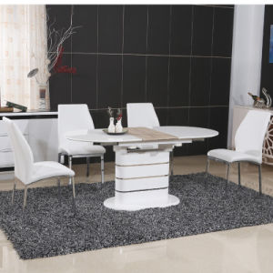 High Glossy Paiting Wooden Dining Table with PU Chair (ET59 & EC58)