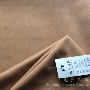 Decorative Leather 100% Polyester Micro Suede Fabric for Upholstery pictures & photos