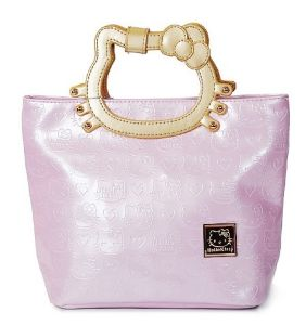Shopper Bag With Debossing And Print Multicolor Hello Kitty
