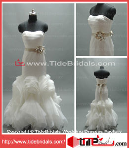 Princess New Strapless Ball Gown Organza Bridal Dress Gown Wear Wedding Dress (AS1144)