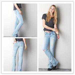 781c982a Fashional Women′s Straight Light Blue Jeans Pants (D471)