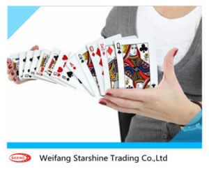 China Factory Directly Sales Black Blue Center Playing Card Paper Board