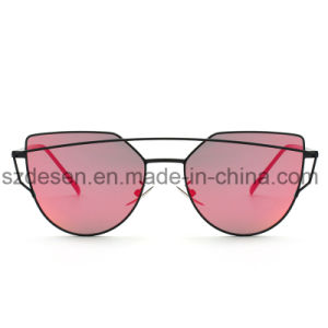 Hot Selling Custom Design Mirror Lens Metal Sunglasses pictures & photos