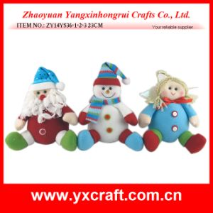 Christmas Decoration (ZY14Y536-1-2-3) Santa Claus Christmas Velvet Gift Ornament pictures & photos