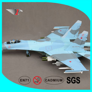 Su-27 Airplane Model with Die-Cast Alloy