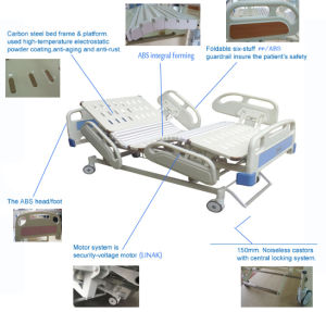 Customize Plastic Hospital Bed Equipment Medical Bed Electric Hospital Bed pictures & photos