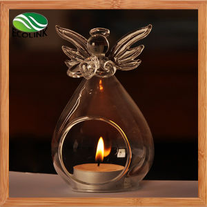 Angel Shaped Glass Candle Holder with New Designer pictures & photos