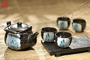 Stoneware Ceramic & Tableware Porcelain Teapot Giftware Sets (TP-445)
