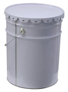 18 Liter Steel Bucket with Lid and Metal Handle for Paint
