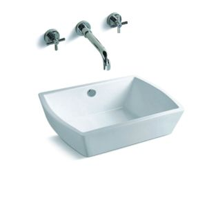 High Quality Sanitary Ware Solid Surface Kitchen Corner Sink (S1016)