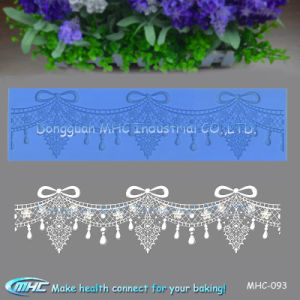 3D Pearls and Jewelry Silicone Fondant Cake Broder Lace Mould