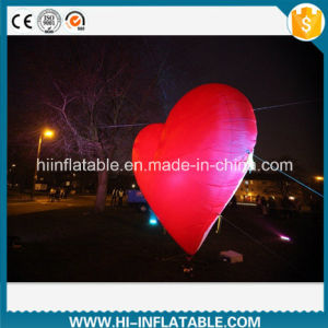 Hot Sale Outdoor Event Decoration Inflatable Red Heart With LED Light