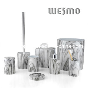 Imitated Marble Finish Polyresin Bathroom Accessories (WBP0286A)