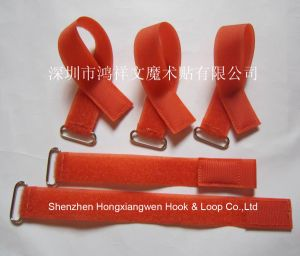 Nylon Hook & Loop Cable Tie with Buckle