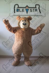 China Popular Cartoon Brown Plush Teddy Bear Costumes For Party