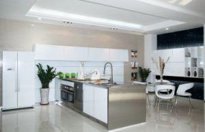 Aluminium Kitchen Cabinet Design And White Acrylic/Glass Front Storage  Cabinet Modern Kitchen Cabinets